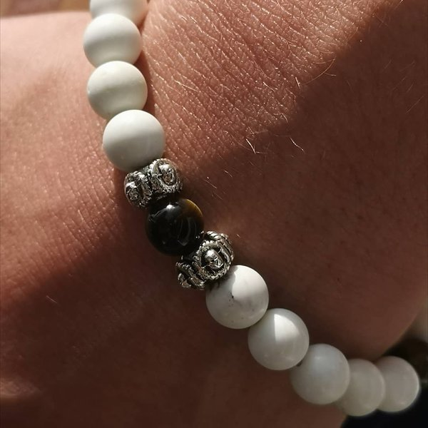 Bracelet Mala homme : Discernement, Harmonie, Anti-Stress et protection.